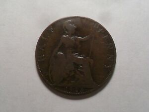 1923 NICE GREAT BRITAIN BZ HALF PENNY MINTAGE 12 266 282 OLD ENGLISH COLLECTION