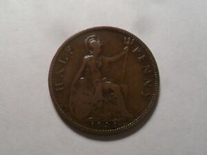 1931 NICE GREAT BRITAIN BZ HALF PENNY MINTAGE 16 137 600 OLD ENGLISH COLLECTION