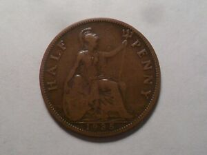 1935 NICE GREAT BRITAIN BZ HALF PENNY MINTAGE 12 180 000 OLD ENGLISH COLLECTION