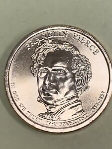 2010 D FRANKLIN PIERCE PRESIDENTIAL DOLLAR COIN UNCIRCULATED