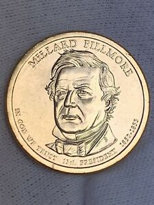 2010 D MILLARD FILLMORE PRESIDENTAL DOLLAR COIN UNCIRCULATED