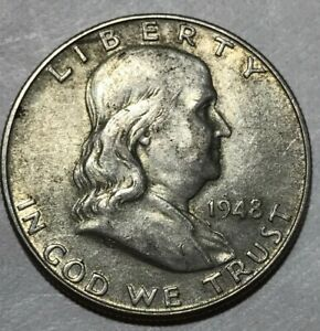 1948 D FRANKLIN HALF DOLLAR COIN