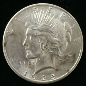 1925 PHILADELPHIA UNITED STATES PEACE SILVER DOLLAR $1 UNCIRCULATED COIN CO553