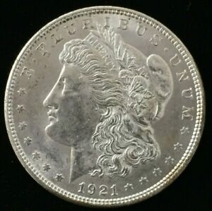 1921 PHILADELPHIA MORGAN SILVER DOLLAR .900 US $1 UNCIRCULATED COIN CO563