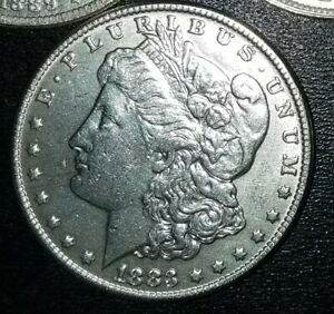1  $1 1878 1904 MORGAN SILVER DOLLARS FINE D BRILLIANT PRE 1921
