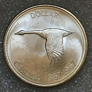 1967 CANADA SILVER ONE 1 DOLLAR COIN ELIZABETH II FREE COMBINED S/H