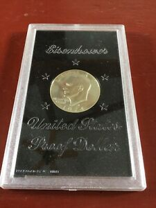 1974 EISENHOWER SILVER DOLLAR PACKAGED BY U.S. MINT IN SEALED PLASTIC