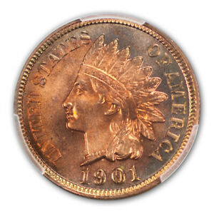 Click now to see the BUY IT NOW Price! 1901 1C INDIAN CENT   TYPE 3 BRONZE PCGS PR67 RB  CAC