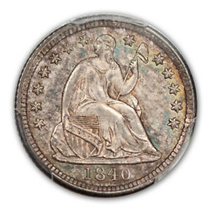 Click now to see the BUY IT NOW Price! 1840 H10C DRAPERY LIBERTY SEATED HALF DIME PCGS MS65