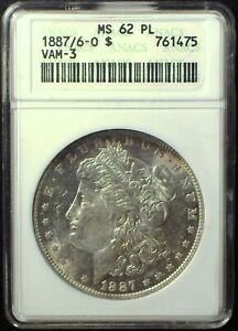 Click now to see the BUY IT NOW Price! 1887/6 O VAM 3 ANACS MS62PL MORGAN DOLLAR [INV 84]     MAJOR RARITY