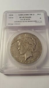 ERROR  1926 PEACE DOLLAR VAM 2 DOUBLED OLIVE BRANCHES