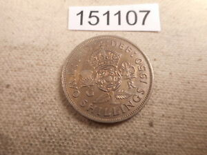 1950 GREAT BRITAIN TWO SHILLINGS HIGHER GRADE NICE COLLECTOR COIN    151107