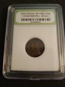 CONSTANTINE THE GREAT ANCIENT ROMAN BRONZE COIN C. 330 AD