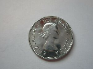 1953 CANADA 5 CENT COIN GREAT LUSTER