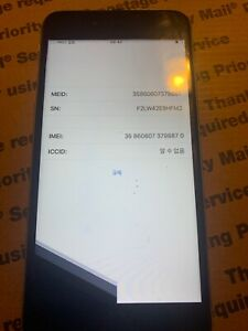 FOR PARTS APPLE IPHONE 6S PLUS  A1687 IC LOCKED CHECK IMEI