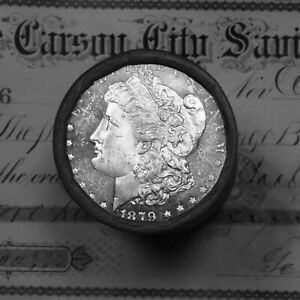 Click now to see the BUY IT NOW Price! 1879 & CC CARSON CITY ENDS ON THIS MORGAN SILVER DOLLAR SHOTGUN ROLL  UNC DMPL