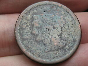 1851 BRAIDED HAIR LARGE CENT PENNY