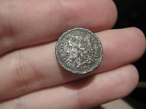 1870 THREE 3 CENT NICKEL  METAL DETECTOR FIND?