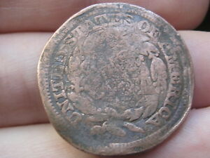 1847 BRAIDED HAIR LARGE CENT PENNY  HEAVILY DAMAGED