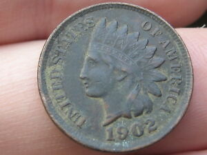 1902 INDIAN HEAD CENT PENNY  XF DETAILS