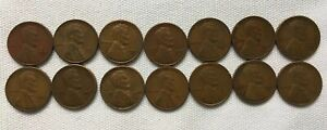 14 1940S & 1950S S MINT WHEAT BACK PENNIES PENNY LINCOLN CENT SAN FRANCISCO