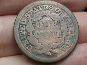 1848 BRAIDED HAIR LARGE CENT PENNY  GOOD DETAILS