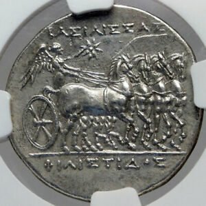 Click now to see the BUY IT NOW Price! SYRACUSE IN SICILY PHILISTIS HIERON II WIFE SILVER ANCIENT GREEK COIN NGC I82945