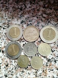 LOT MIXT OF 8 COINS TURKEY