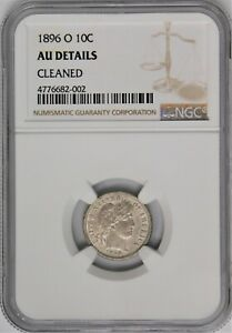 1896 O  DATE BARBER DIME   NGC CERTIFIED