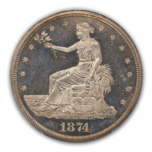 Click now to see the BUY IT NOW Price! 1874 T$1 TRADE DOLLAR PCGS PR65CAM  CAC