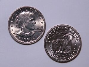1980 P SUSAN B ANTHONY DOLLAR   UNCIRCULATED SBA