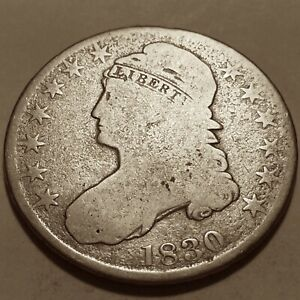 1830 EARLY BUST HALF  GOOD 190 YEARS OLD