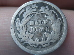 1865 S SEATED LIBERTY HALF DIME   KEY DATE