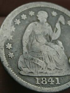 1841 P SEATED LIBERTY HALF DIME   TYPE COIN