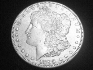 1895 O MORGAN DOLLAR     ALMOST UNCIRCULATED