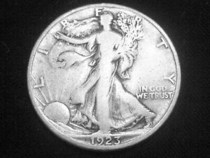 1923 S LIBERTY WALKING HALF DOLLAR     FINE