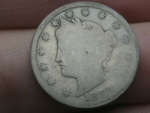 1887 LIBERTY HEAD V NICKEL 5 CENT PIECE