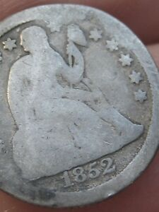 1852 O SEATED LIBERTY SILVER DIME