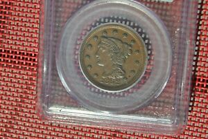 1852 1C PCGS XF45 LARGE CENT   NICE