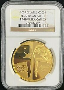 Click now to see the BUY IT NOW Price! 2007 BELARUS BELARUSIAN BALLET GOLD COIN 1 OZ  200 ROUBLE NGC PF 69 ULTRA CAMEO
