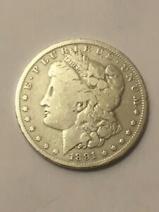 1891 O MORGAN SILVER DOLLAR F VF  NICE COIN