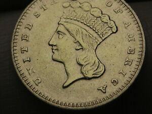 1879 $1 GOLD INDIAN PRINCESS ONE DOLLAR COIN  VF/XF DETAILS