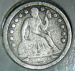 1853 O SEATED LIBERTY DIME. ARROWS AT DATE. LOW MINTAGE VARIETY AND YEAR.