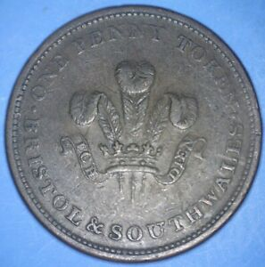 1811 BRISTOL & SOUTH WALES HEAVY COPPER PENNY   VIRTUTE ET INDUSTRIA    48295299