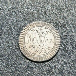 1885 SEATED  LIBERTY DIME 10 CENTS ENGRAVED LOVE TOKEN