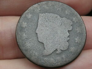 1821 MATRON HEAD LARGE CENT PENNY  LOWBALL HEAVILY WORN PO1 CANDIDATE?