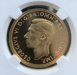 Click now to see the BUY IT NOW Price! 1937 GEORGE VI CORONATION 5 FIVE POUND SOVEREIGN GOLD PROOF COIN NGC PF65 UCAM
