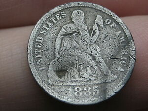 1885 SEATED LIBERTY SILVER DIME