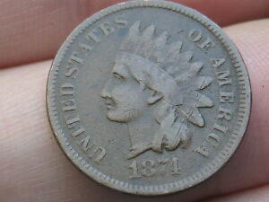1874 INDIAN HEAD CENT PENNY  FINE DETAILS
