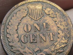 1874 INDIAN HEAD CENT PENNY LOW MINTAGE DATE VG DETAILS FULL DATE